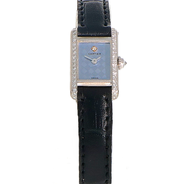 Cartier Tank Mini 18K white gold & diamond